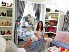 Kyle Richards converts home gym into dressing room #interiorsdesign