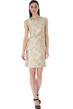 Βραδινό επίσημο φόρεμα από ανάγλυφο floral μεταλλικό ύφασμα | Uttam Boutique | Phillyshop.gr