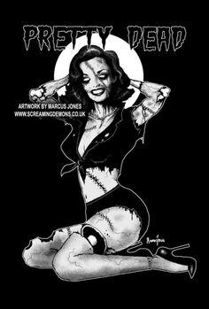 Pretty Dead by MarcusJones on DeviantArt Zombie Pin Up, Zombie Art, Emo Art, Goth Art, Pin Up Girl Tattoo, Nostalgia Art, Heavy Metal Art, Comic Art Girls, Retro