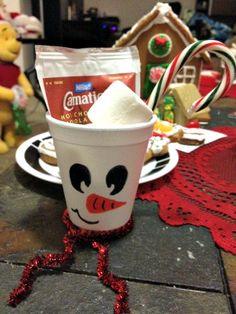 YUMMY snowman soup craft to keep you warm and will you with chocolatey goodness.