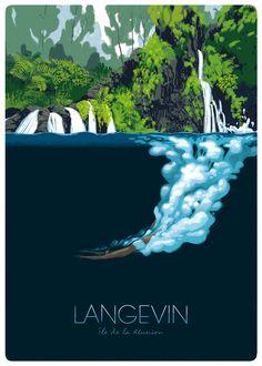 Guillaume Plantevin et Hypolite Poster Art, Typography Poster, Retro Typography, Retro Surf, Cg Artist, Travel Illustration, Surf Art, Vintage Travel Posters, Grafik Design