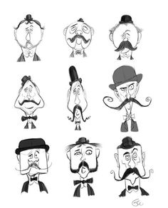 Geoff Wheeler: Stephen Silver Character Design Assignment: Using The Basic Shapes ★ Find more at http://www.pinterest.com/competing/ Geoff Wheeler, Le Moustaches, Silver Character, Stephen Silver, Character Concept, Design Assignments, Character Design, Design Reference, Basic Shapes