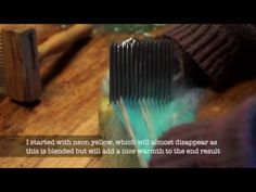 Colour Blending on Handcombs with WoolWench http://youtu.be/MejwJvo51J8
