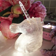 Unicorns are creatures of pure love and light, channel unicorn magic with this beautifull hand craved unicorn clear quartz. A great altar piece or to channel unicorn magic into your spellwork. The horn is detachable so you can carry the unicorn horn as a powerful amulet.   UNICORNMANOR.COM