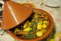 Cuisine en folie: Tajine de poulet au safran, citrons confits et olives vertes