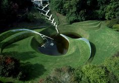 The Garden of Cosmic Speculation near Dumfries Scotland.  Only open to the public one day a year