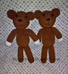 This teddy i made according to Mr. Bean's teddy bear as inspiration, but i use black beads for making eyes not buttons.. I also add overalls...
