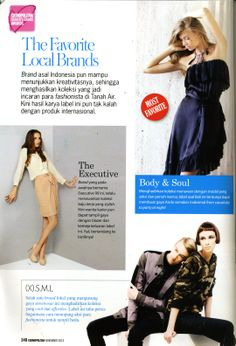 (X)S.M.L as The Most Favorite Local Brand coverage is appeared on Cosmopolitan Indonesia - November 2013