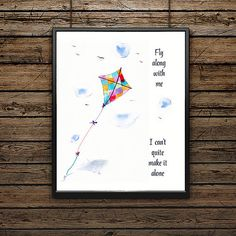 Art Print/Song Lyrics/Learn to Fly/Foo by SouthernSassArt on Etsy