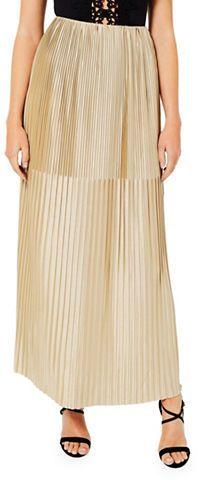 Miss Selfridge Gold Pleat Maxi Skirt  https://api.shopstyle.com/action/apiVisitRetailer?id=607440743&pid=uid2500-37484350-28