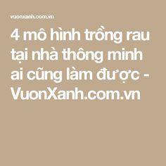 4 mô hình trồng rau tại nhà thông minh ai cũng làm được - VuonXanh.com.vn