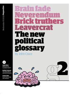 Guardian g2 cover: The new political glossary #editorialdesign #newspaperdesign #graphicdesign #design #theguardian
