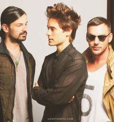 30 Seconds To Mars music..... the man in the middle is from My So Called Life