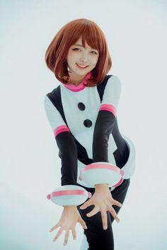 Cosplay Anime Costume Pine(션) ochako uraraka Cosplay Photo - Cure WorldCosplay Kawaii Cosplay, Anime Cosplay, Uraraka Cosplay, Cute Cosplay, Amazing Cosplay, Cosplay Outfits, Best Cosplay, Cosplay Girls, Cosplay Legal