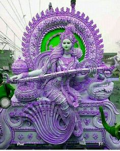 Saraswati Murti, Saraswati Goddess, Maa Wallpaper, Full Hd Wallpaper Download, Gayatri Devi, Lord Shiva Family, Sculptures, Lion Sculpture, Lord Krishna Images
