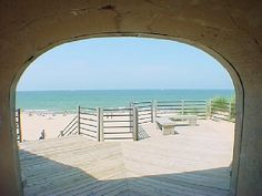 Tunnel Park Beach lookout over Lake Michigan in Holland