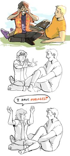 fuocogo:  Inspired by real life events. (And yes Jason is reading Magnus Chase)