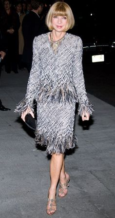 Anna Wintour, whose style I usually don't care for in a smashing look!!