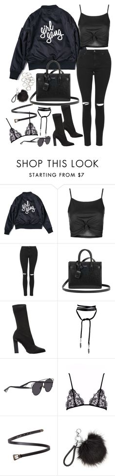 """""""Untitled#4517"""" by fashionnfacts ❤ liked on Polyvore featuring Topshop, Yves Saint Laurent, Calvin Klein Collection, Christian Dior and Forever 21"""