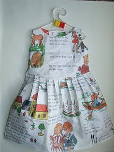 """Book"" dress (need button-down shirt for a boy!)"