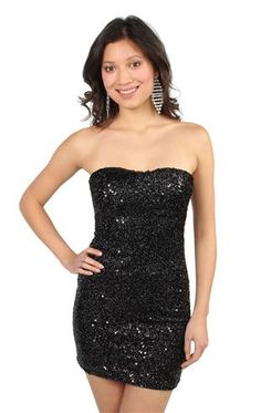strapless allover sequin club dress $59.99.  Sequins under the armpits = painful...but maybe it's worth it.  Haha  :)