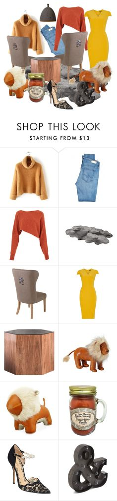 lion by dodo85 on Polyvore featuring Pied a Terre, Crea Concept, AG Adriano Goldschmied, Marchesa, Modloft, Yves Saint Laurent, Serena & Lily and Zuny