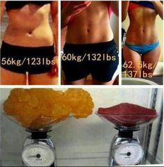 1 lb. of Muscle weighs the same as 1 lb. of fat, just takes up less space and looks way better:)