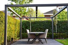 Pergola With Glass Roof Info: 5152548968 Pergola With Roof, Cheap Pergola, Pergola Patio, Pergola Kits, Backyard, Planter Boxes, Planters, Aluminum Pergola, Porch Area