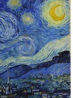 Vincent Van Gogh - Post Impressionism - The Starry Night (detail) ~ ca. Vincent Van Gogh, Van Gogh Wallpaper, Hd Wallpaper, Van Gogh Arte, Van Gogh Pinturas, Art Van, Van Gogh Paintings, Post Impressionism, Art Plastique