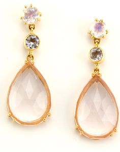 Pamela Huizenga: topaz & moonstone earrings