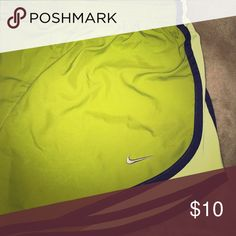 Nike pro running shorts size small A subtle green short with brown trimming. Size small. Nike Shorts