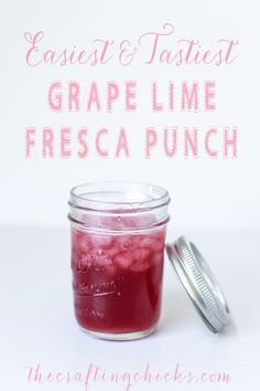 Easy and Tasty Grape Lime Fresca Punch - perfect for BBQ season!