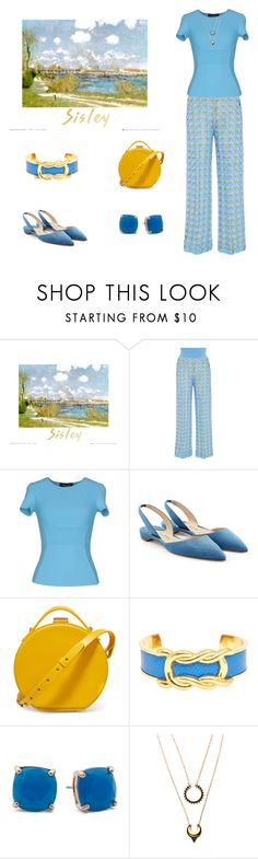 """Sisley Inspired"" by scolab ❤ liked on Polyvore featuring Pepa Pombo, Dsquared2, Paul Andrew, Nico Giani, Hermès and WithChic"