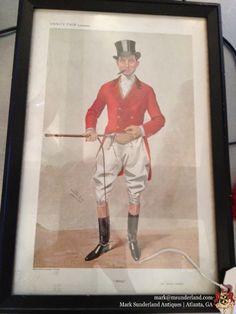 "Vanity fair supplement: framed spy print: ""Alfred"". Mr. Alfred Curnick, Hentschel-Colour, London. $189"