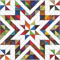 Coming Soon - Star quilt Star Quilt Blocks, Star Quilts, Mini Quilts, Half Square Triangle Quilts Pattern, Square Quilt, Scrap Quilt Patterns, Patchwork Quilting, Free Paper Piecing Patterns, Scraps Quilt