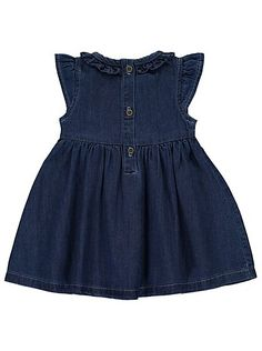 Denim Dress, read reviews and buy online at George at ASDA. Shop from our latest range in Baby. Give your little one a cute new look with this stylish denim ...