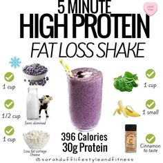 This Simple Weight-Loss Shake Is Packed With 30 Grams of Protein — See the Recipe! A post shared by Sarahdufflifestyleandfitness ( on Jul 2018 at PDT Being too busy is not a valid excuse to skimp Weight Loss Shakes, Weight Loss Drinks, Weight Loss Smoothies, Easy Weight Loss, Lose Weight, Water Weight, Reduce Weight, Fat Burning Detox Drinks, Fat Burning Foods