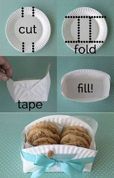 DIY Cookie Basket Made From A Paper Plate | One Good Thing by Jillee
