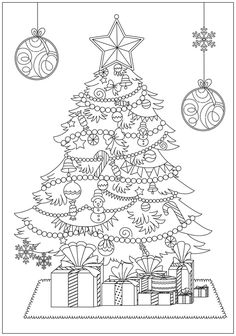 Christmas Coloring Books for Adults - Christmas Coloring Books for Adults , 101 Best Christmas Coloring Pages for Kids & Adults Printable Free Christmas Coloring Pages, Christmas Coloring Sheets, Free Printable Coloring Pages, Colouring Pages, Adult Coloring Pages, Coloring Books, Christmas Tree Drawing, Illustration Noel, Free Christmas Printables