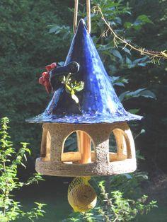 Vogelhaus zum stecken, stellen oder hängen, blau