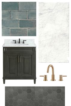 Our new favorite tile and flooring resource Floor & Decor + 3 bathroom design plans for moody, beachy, and cottage styles. #flooring #bathroom