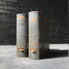 ASCO Metal Book File Box Shelf Cabinets Vintage Industrial