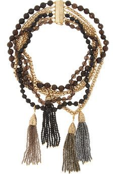 Rosantica Himalaya gold-dipped hematite, onyx and quartz necklace | THE OUTNET