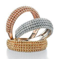 Fiorelli Silver Bobble Textured Ring, Choose Size