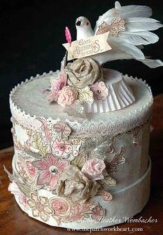 paper art cake box