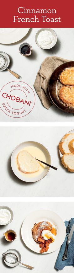 Hosting family for the holidays just got easier. Make their mornings complete with Cinnamon French Toast made lighter with Chobani Greek Yogurt. Breakfast Recipes, Snack Recipes, Cooking Recipes, Cinnamon French Toast, Allergy Free Recipes, Recipe Of The Day, Greek Yogurt, Love Food, Holiday Recipes