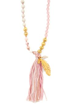 Chan Luu - Peony Mix Layering Tassel Necklace, $180.00 (http://www.chanluu.com/necklaces/peony-mix-layering-tassel-necklace/)