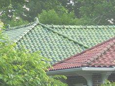 Colored Roof Tiles Of Spanish Design Ceram21 Blue Green