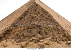 Pyramids of giza. Great pyramids of Egypt. The seventh wonder of the world. Ancient megaliths - Stock Image