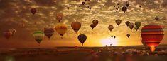 coucher de soleil balloons